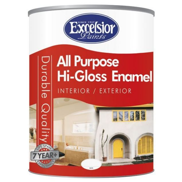 Picture of EXCELSIOR ALL PURPOSE HIGH GLOSS ENAMEL WHITE 5LTR