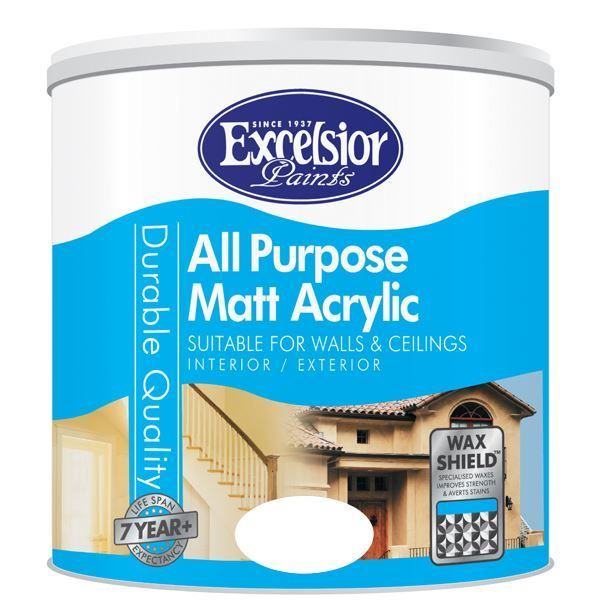 Picture of EXCELSIOR ALL PURP MATT ACRYLIC BLACK 5LTR