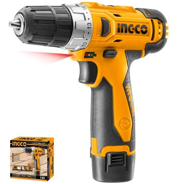 INGCO CORDLESS DRILL 12V +1 BATTERY & CHARGER SET SOUTH AFRICA