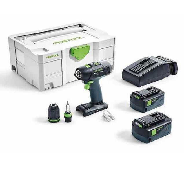 FESTOOL T 18+3 LI 5.2-PLUS CORDLESS DRILL SET + FREE POZI BIT SET SOUTH AFRICA
