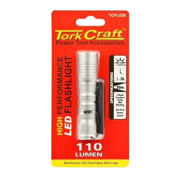 TORK CRAFT LED ALUMINIUM TORCH 110LM USE 1 X AA SOUTH AFRICA