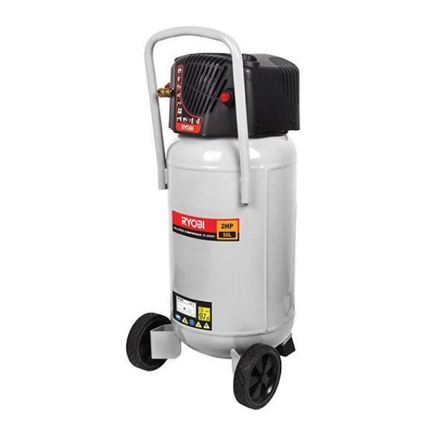 RYOBI COMPRESSOR 50L 2HP VERTICAL MOUNT OIL-LESS SOUTH AFRICA