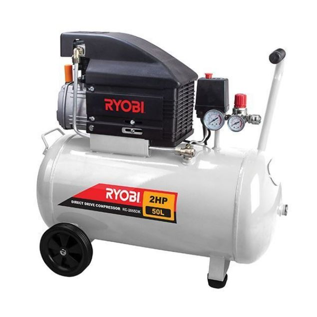 RYOBI COMPRESSOR 50L 2HP DIRECT DRIVE + 5-PCE KIT SOUTH AFRICA