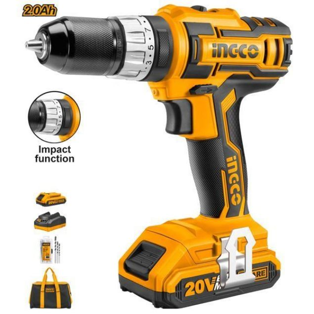INGCO CORDLESS IMPACT DRILL KIT SOUTH AFRICA