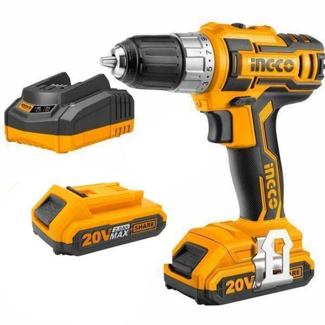 INGCO CORDLESS DRILL 20V +2BAT +1CGR SET south africa