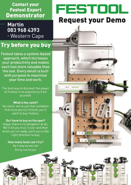 Picture of Request your FREE Festool demo via Zoom!!