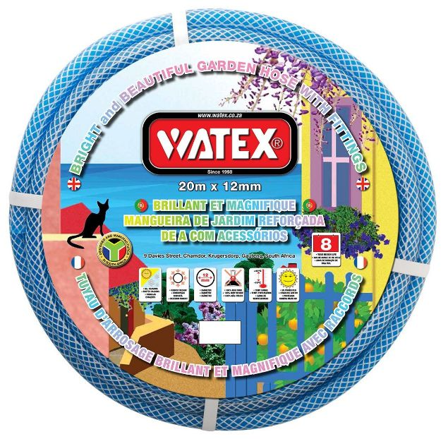 WATEX GARDEN HOSE + FITTINGS - BLUE - 8 Year SOUTH AFRICA