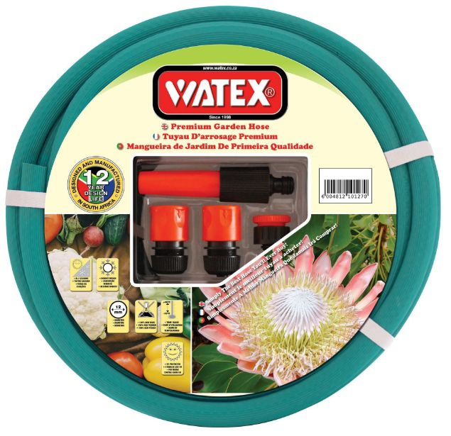 WATEX Garden Hose with Fittings - 20mm x 30m - 12 Year - SABS SOUTH AFRICA
