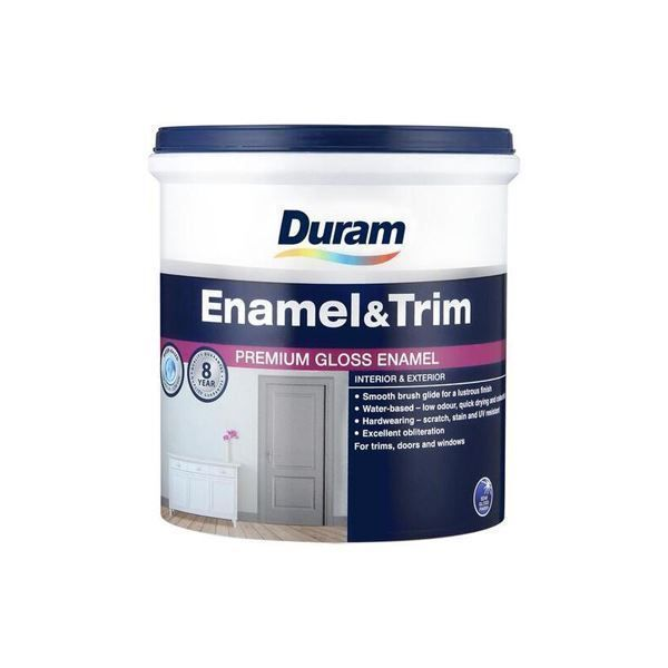 DURAM ENAMEL & TRIM 1LT - WHITE SOUTH AFRICA