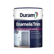 DURAM ENAMEL & TRIM 5LT - WHITE  SOUTH AFRICA