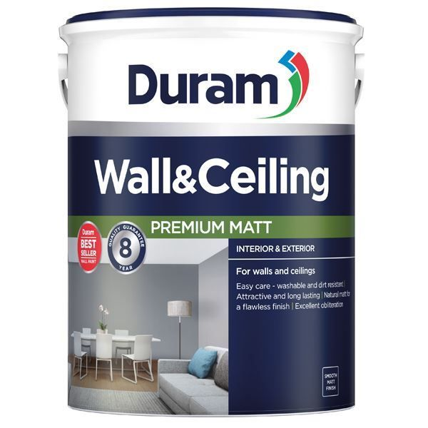 DURAM WALL & CEILING WHITE 20L south africa
