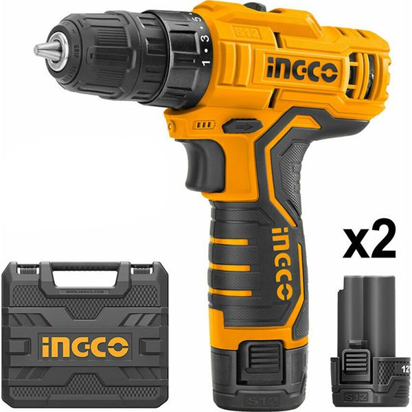 INGCO CORDLESS DRILL 12V 2 BATTERIES SOUTH AFRICA
