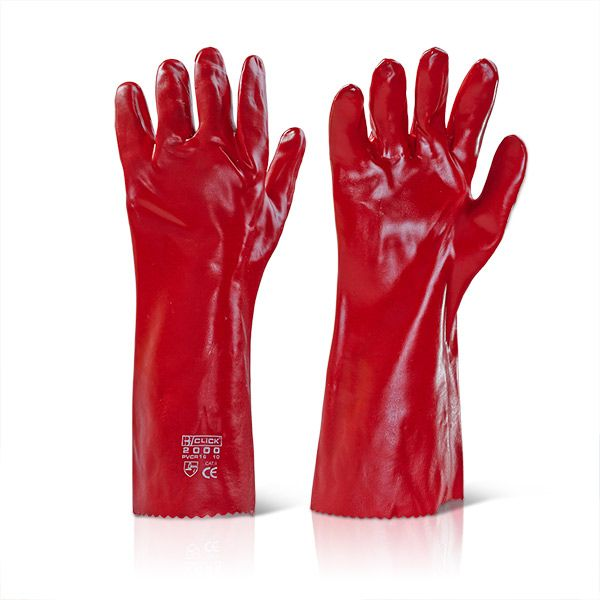 PRO GLOVE P.V.C DIPPED GAUNTLET RED 270MM  south africa